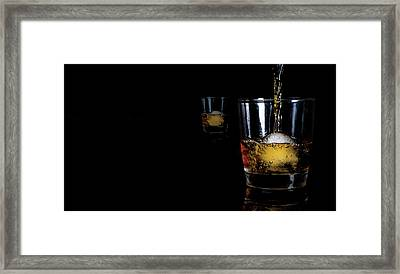 Whisky On Ice For Two Framed Print