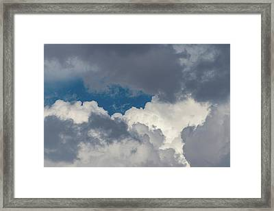 White And Gray Clouds Framed Print