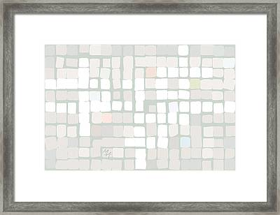 Framed Print featuring the digital art White by Attila Meszlenyi