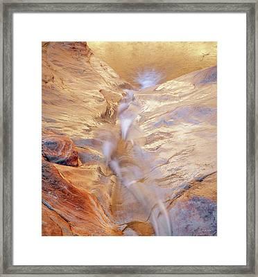 White Canyons Cascade Framed Print by Leland D Howard