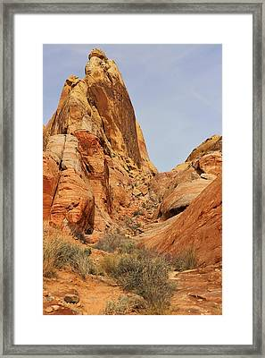 White Dome Hike Framed Print