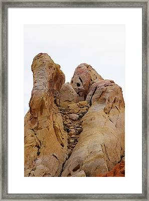White Dome Woman Framed Print