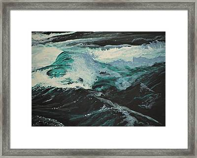 Framed Print featuring the painting Whitewater by Peter Mathios