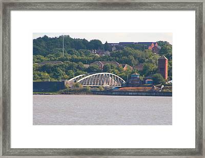 Wigg Island Swingbridge Framed Print