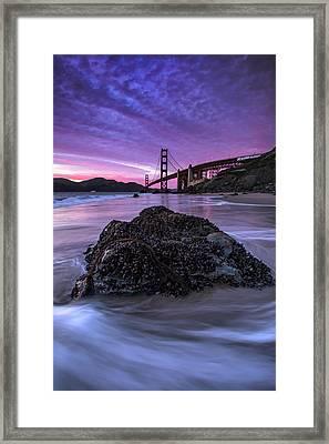Wild Gate, Golden Gate Bridge Framed Print by Vincent James