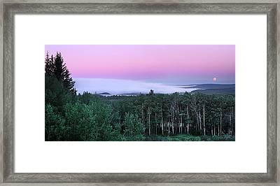 Wilderness Moon Framed Print by Leland D Howard