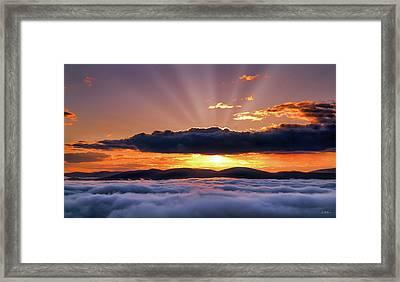 Wilderness Sunrise Framed Print by Leland D Howard