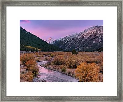 Wildhorse Creek Autumn Sunrise Framed Print by Leland D Howard