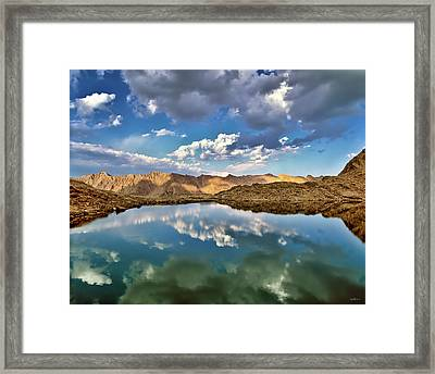 Wildhorse Lake Reflections Framed Print by Leland D Howard