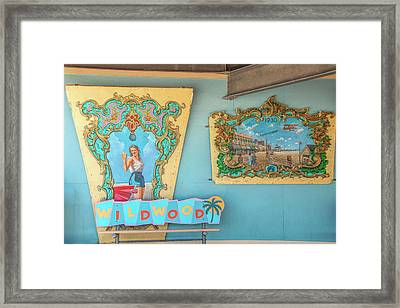 Framed Print featuring the photograph Wildwood Days 2 by Kristia Adams