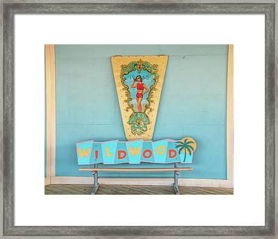 Framed Print featuring the photograph Wildwood Days by Kristia Adams