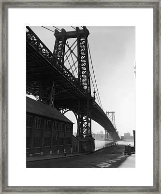 Williamsburg Bridge Framed Print by Frederic Lewis