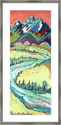 Winding Framed Print