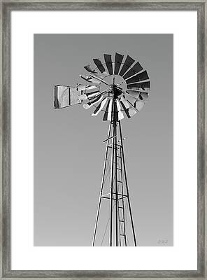 Framed Print featuring the photograph Windmill IIi Bw by David Gordon
