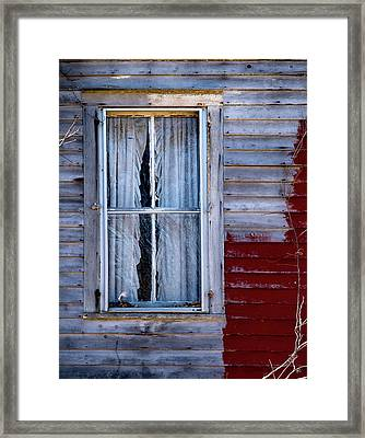 Window In Marlboro Framed Print
