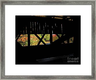 Window To Fall Framed Print
