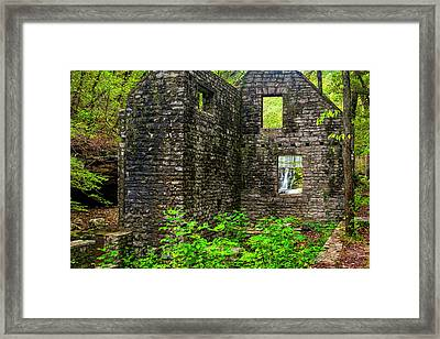 Framed Print featuring the photograph Window To The Waterfall by Andy Crawford