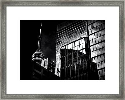 Framed Print featuring the photograph Window Washing No 3 by Brian Carson