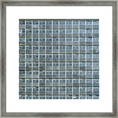 Windows Pattern Modern Architecture Framed Print