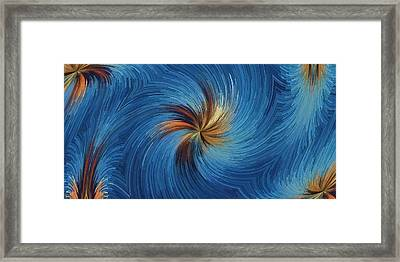 Windy Palms Framed Print