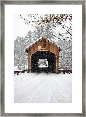Winter At Babb's Bridge Framed Print