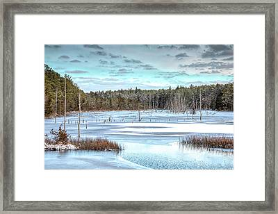 Framed Print featuring the photograph Winter At Lake Oswego by Kristia Adams