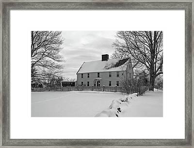 Winter At Noyes House Framed Print