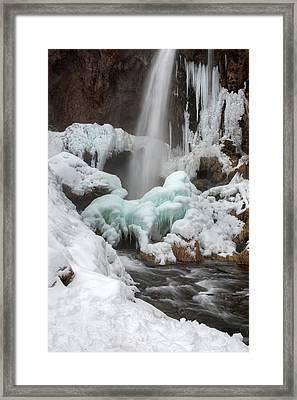 Winter At Rifle Falls Colorado Framed Print