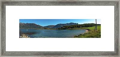 Winter Beach In Norway Framed Print