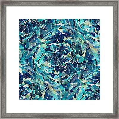 Winter Floral Framed Print