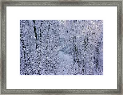 Winter Ice Storm Framed Print