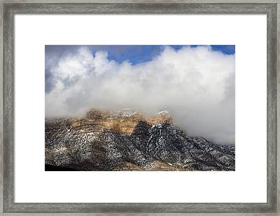 Winter In Red Rock Framed Print