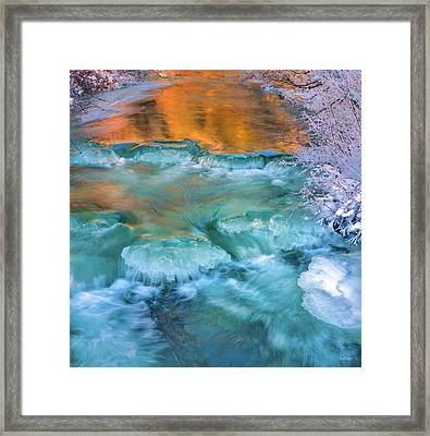 Winter Light Reflections Framed Print by Leland D Howard