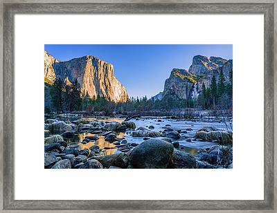 Winter Sunrise At Valley View Framed Print