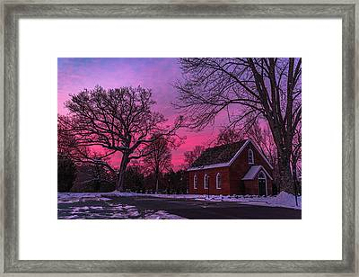 Framed Print featuring the photograph Winter Sunrise by Lori Coleman
