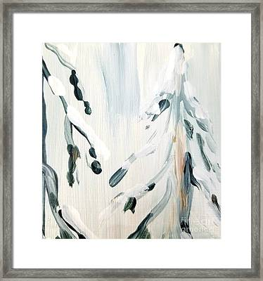 Framed Print featuring the painting Winter Trees #3 by Maria Langgle