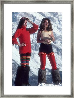 Winter Wear Framed Print by Slim Aarons
