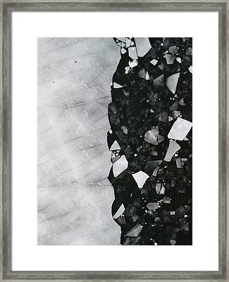 Winters Edge - Aerial Photography Framed Print