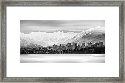 Winterscape Vancouver Framed Print