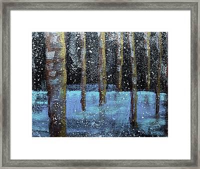 Wintry Scene I Framed Print