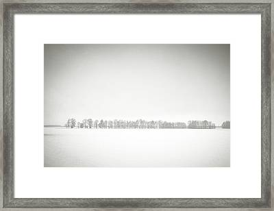 Framed Print featuring the photograph Wintry Space. Horytsya, 2018. by Andriy Maykovskyi