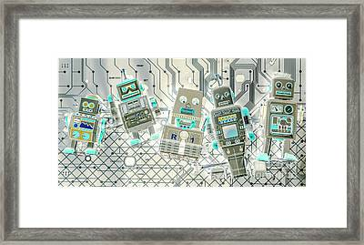 Wired Intelligence Framed Print