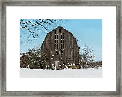 Framed Print featuring the photograph Wisconsin Barn by Kim Hojnacki