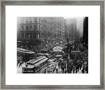 Wisconsin Street Scene Framed Print by Fotosearch