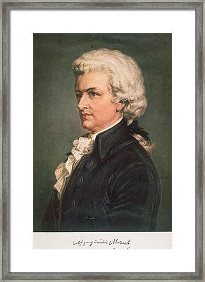 Wolfgang Mozart Framed Print by Hulton Archive