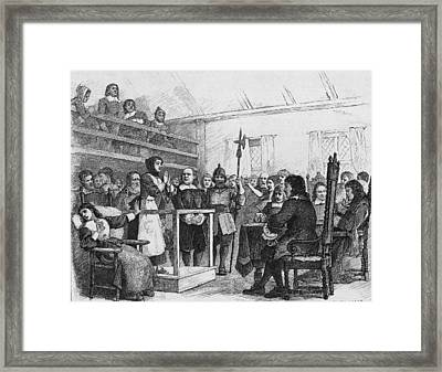 Woman Being Tried For Witchcraft In Framed Print by Kean Collection