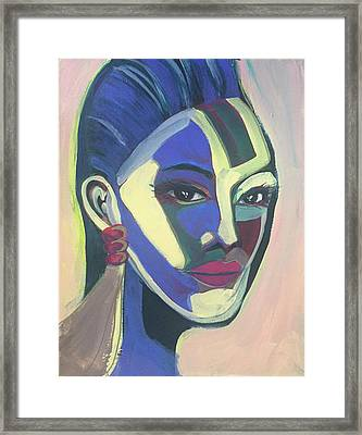 Woman Of Color Framed Print