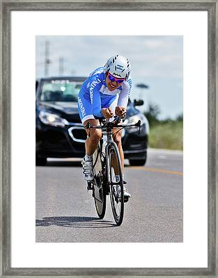 Framed Print featuring the photograph Womens Individual Time Trial No 1 by Brian Carson