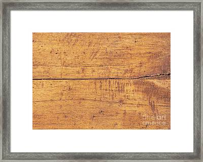 Framed Print featuring the photograph Wooden Table Background by Tim Hester
