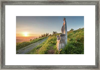 Wooden Throne In Morning Light Framed Print by Www.andreasneuburger.com Photography